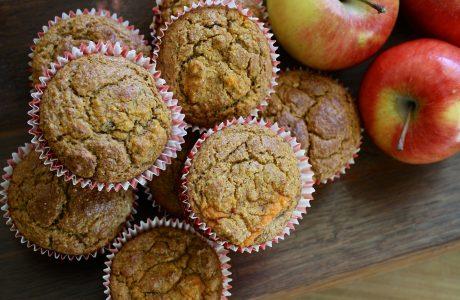 מאפינס תפוחי עץ ודבש דלי שומן וסוכר