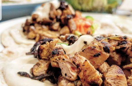 שווארמה עוף על טורטיה מקמח מלא