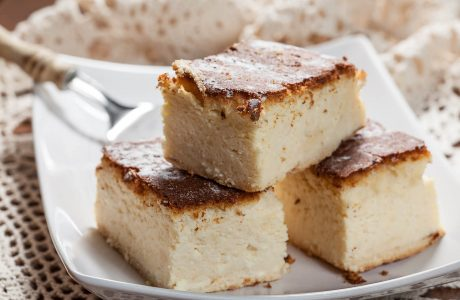 עוגת גבינה אפויה מופחתת שומן